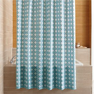 Julien Light Blue Print Shower Curtain