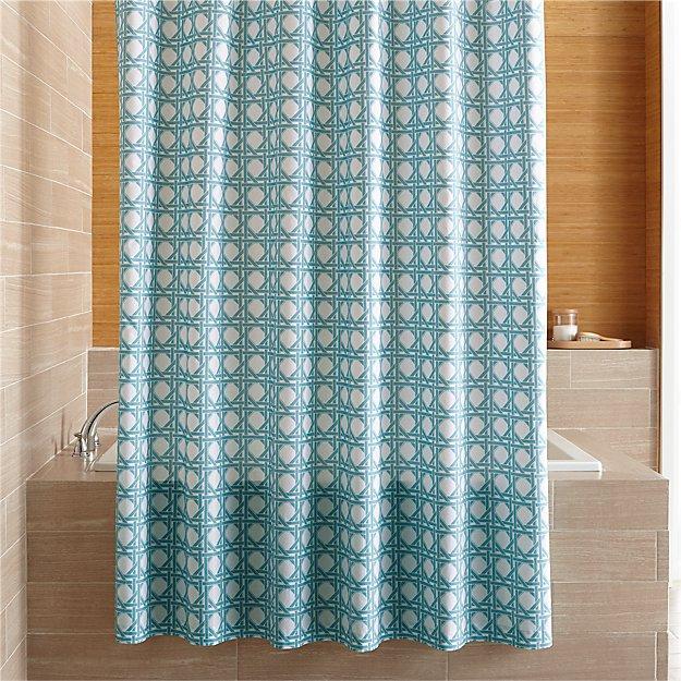 Julien Light Blue Print Shower Curtain Reviews