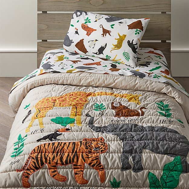 Jungle animal toddler bedding crate and barrel gumiabroncs Images