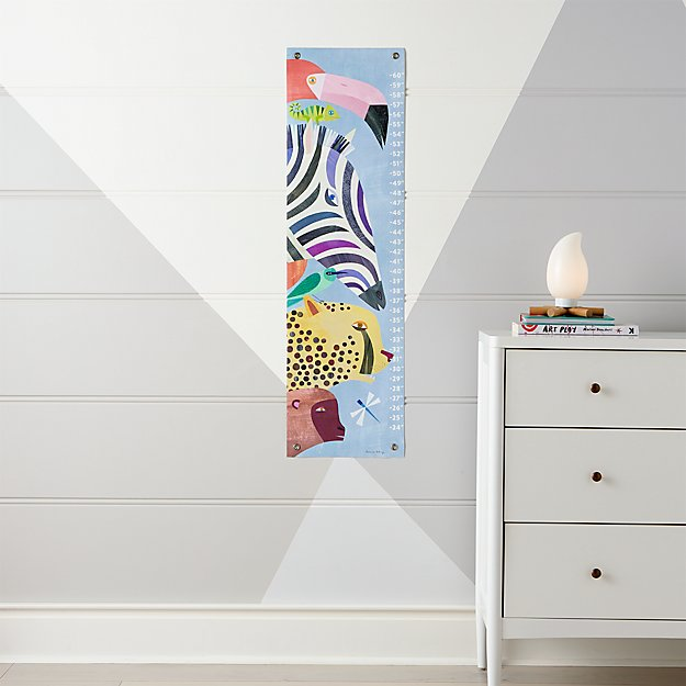 Jungle Animals Growth Chart Reviews Crate And Barrel