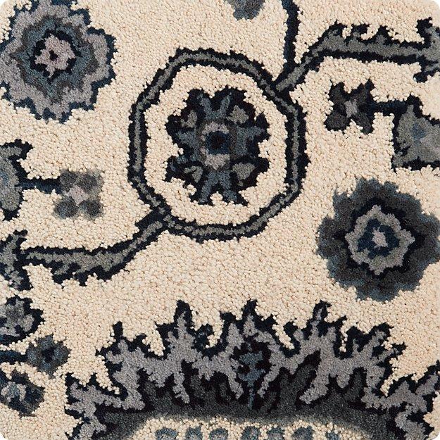 """Juno Blue Wool 12"""" sq. Rug Swatch"""
