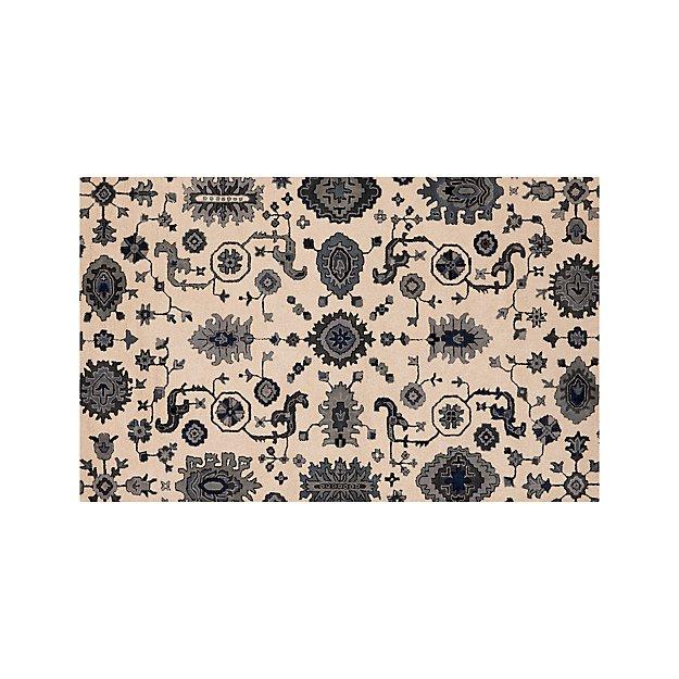 Juno Blue Wool 5'x8' Rug