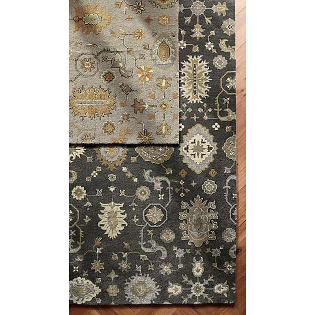 Juno Natural Patterned Wool Rug 8 X10 In Area Rugs