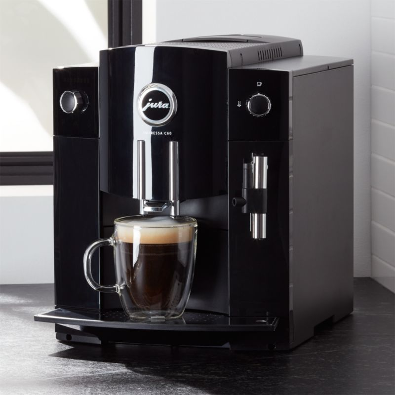 espresso coffee maker jura c60 espresso machine reviews crate and barrel 30277