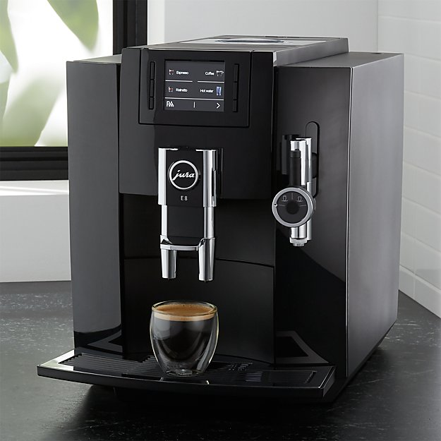 jura e8 espresso machine crate and barrel. Black Bedroom Furniture Sets. Home Design Ideas