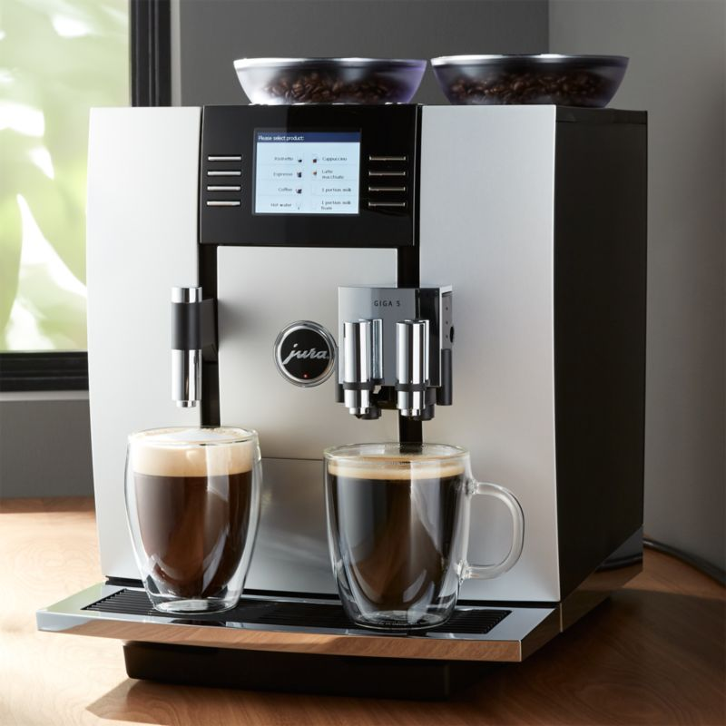 jura giga 5 espresso machine reviews crate and barrel. Black Bedroom Furniture Sets. Home Design Ideas
