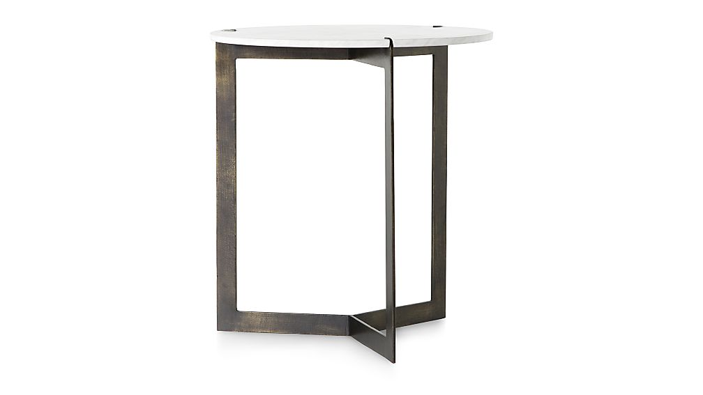 Kace White Marble End Table - Image 1 of 6