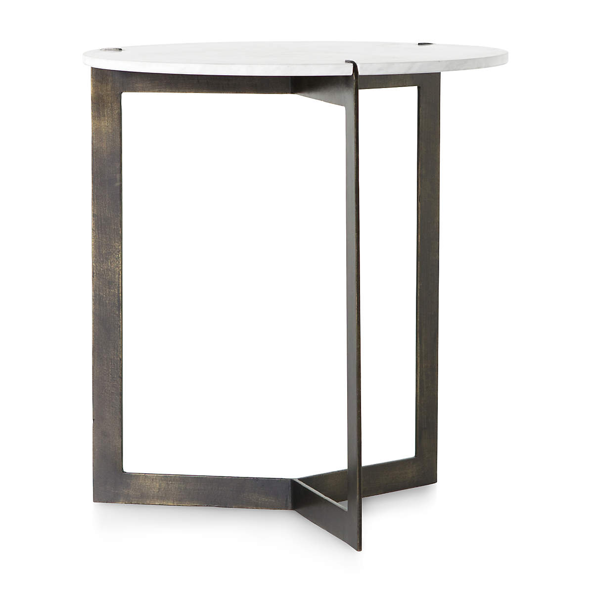 Kace White Marble End Table Reviews Crate And Barrel