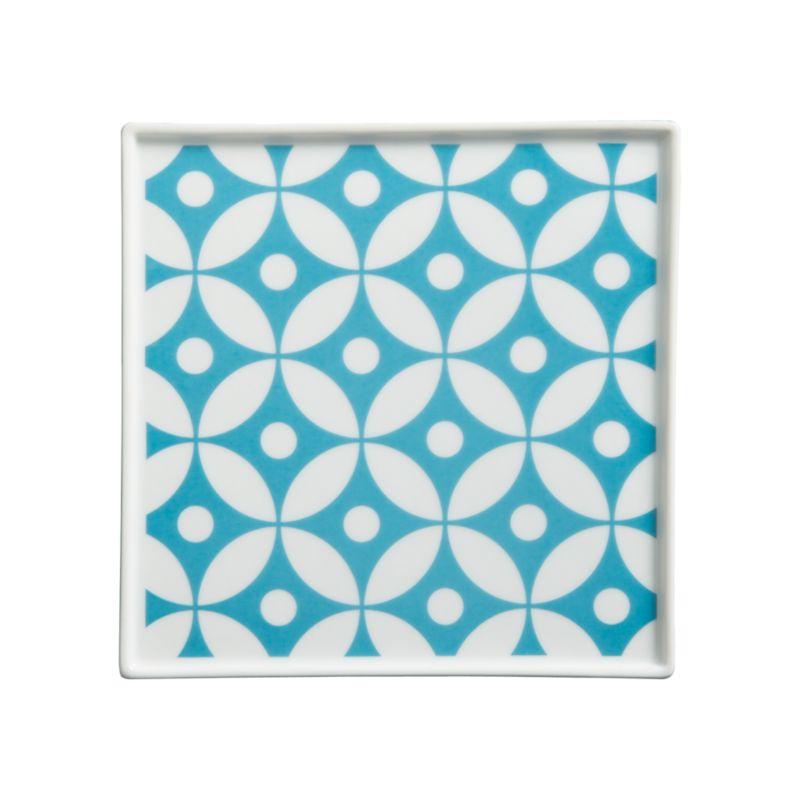 Versatile white porcelain serving square is decorated on the inside with a contemporary Asian motif.<br /><br /><NEWTAG/><ul><li>Porcelain</li><li>Dishwasher-safe</li></ul>