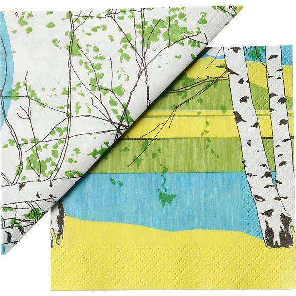 "Set of 20 Marimekko Kaiku Paper 4.75"" Napkins"