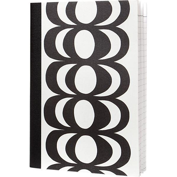 Marimekko Kaivo Black and White Notepad