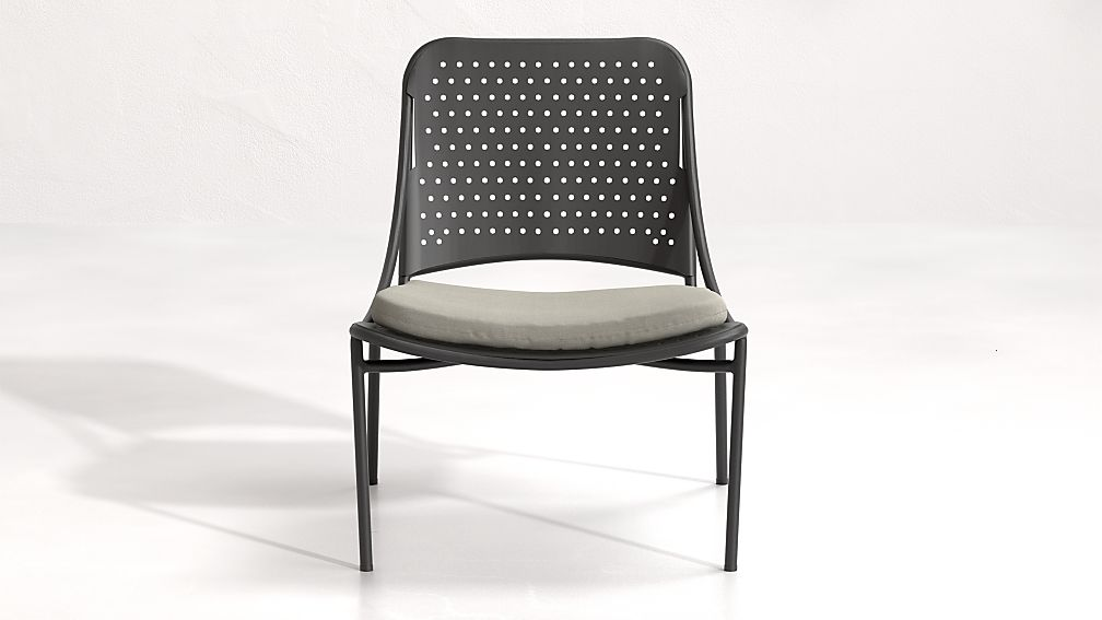 Kali Outdoor Aluminum Lounge Chair with Cushion - Image 1 of 7