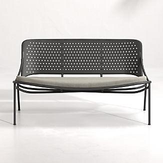 Kali Outdoor Aluminum Loveseat with Cushion