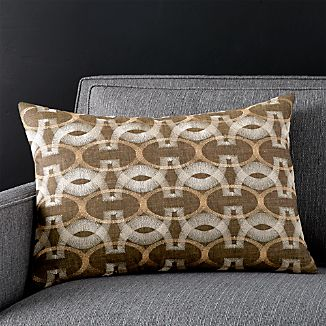"Kaori 22""x15"" Pillow with Feather-Down Insert"