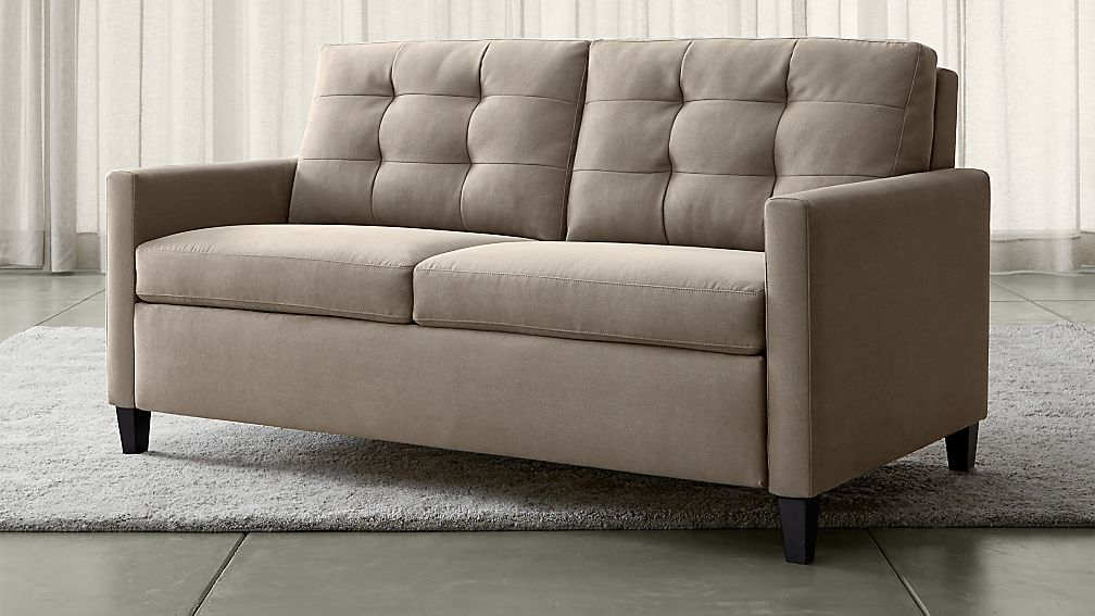 Karnes Grey Queen Sleeper Sofa Crate And Barrel