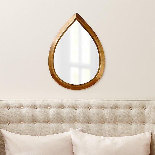 Kasbah Teardrop Brass Wall Mirror
