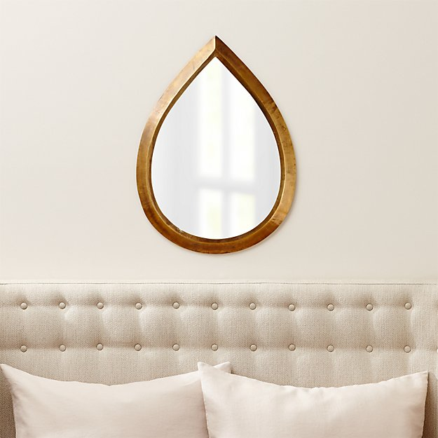 Kasbah Teardrop Brass Wall Mirror - Image 1 of 12