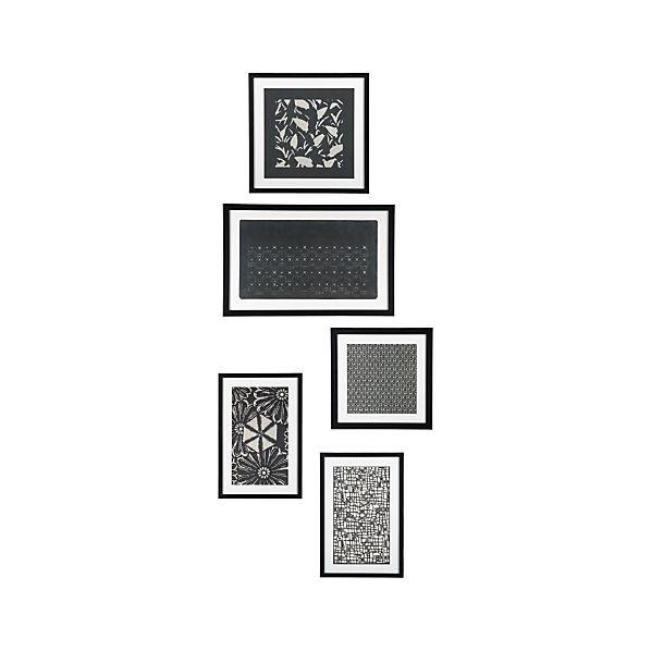 Set of 5 Katagami Prints