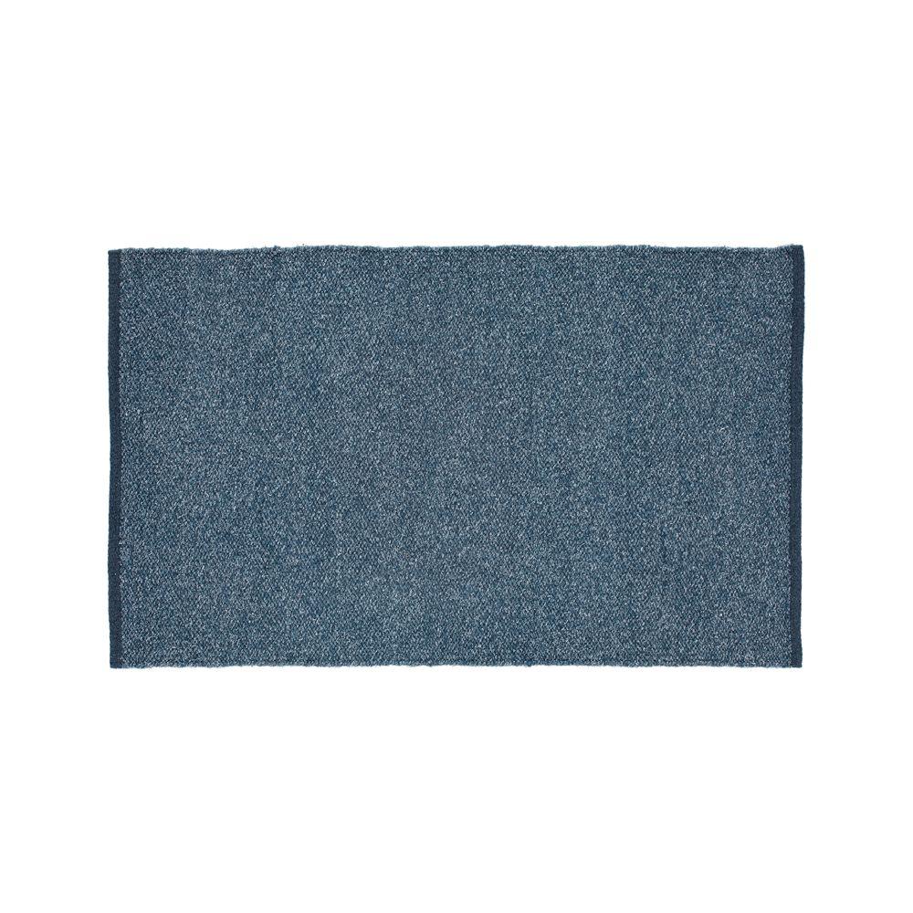 Kavi Blue Wool-Blend 4'x6' Rug - Crate and Barrel