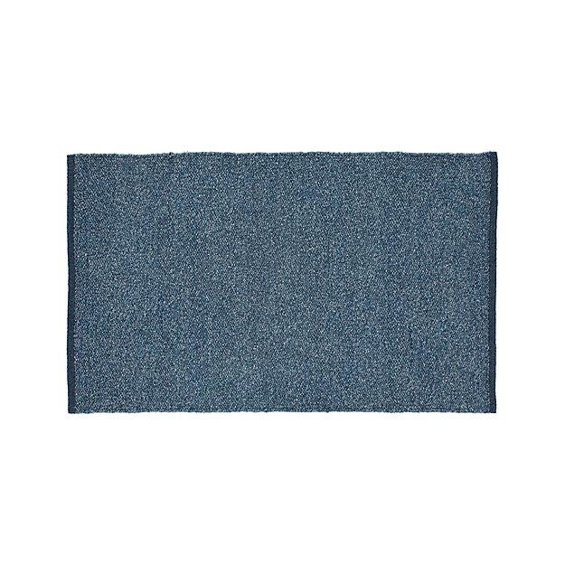 "Kavi Blue Wool-Blend 30""x50"" Rug"