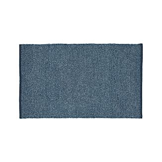 Kavi Blue Wool-Blend 4'x6' Rug
