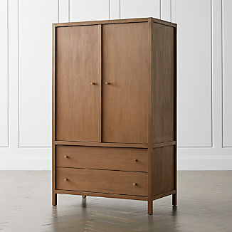 Keane Driftwood Solid Wood Armoire