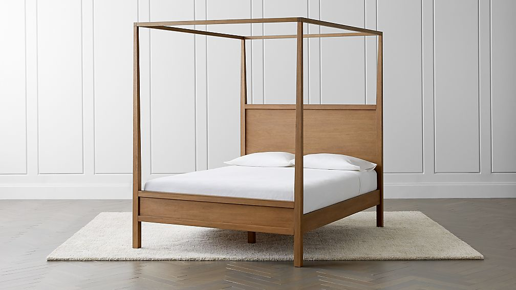 Keane Driftwood Wood Canopy Bed Crate And Barrel