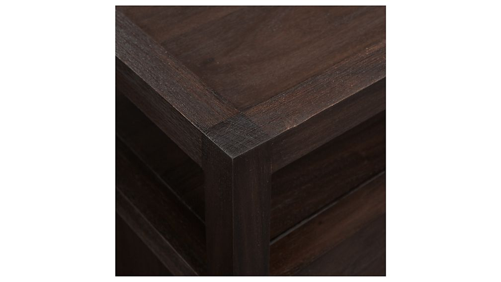 Keane Solid Wood Nightstand with Power Outlet