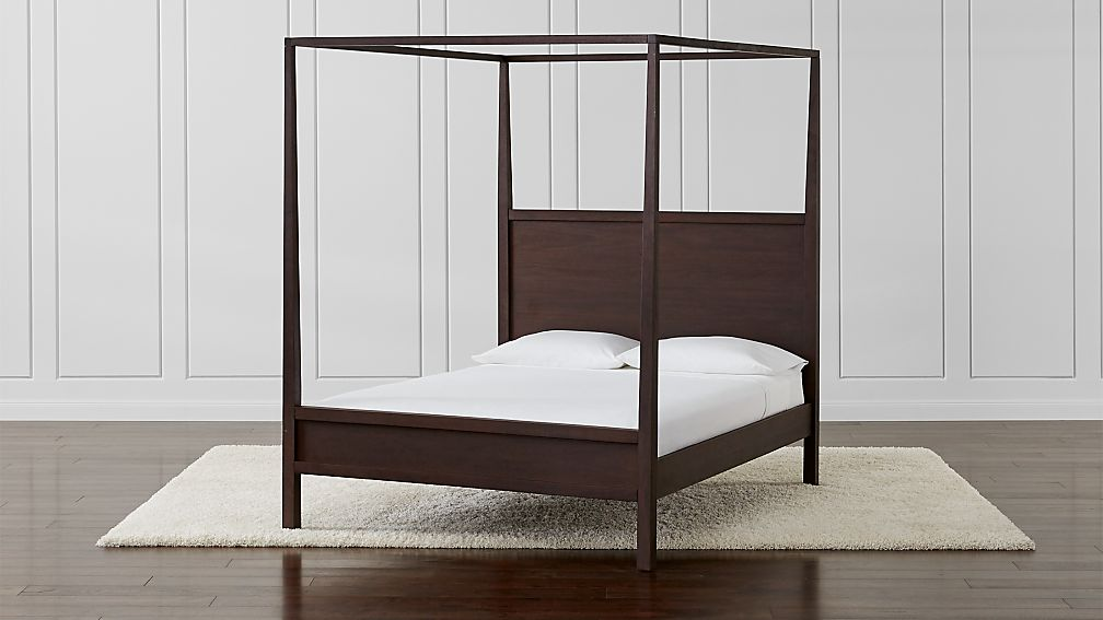 Keane Wenge Queen Canopy Bed - Image 1 of 7