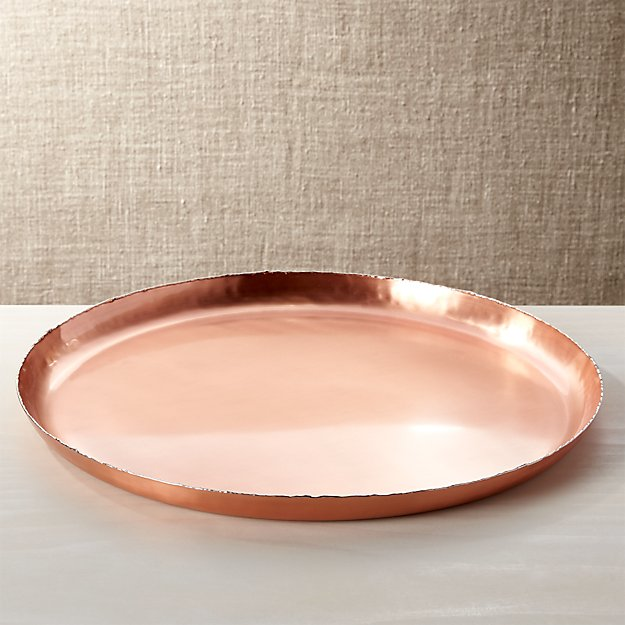 Keaton Copper Tray Reviews Crate And Barrel