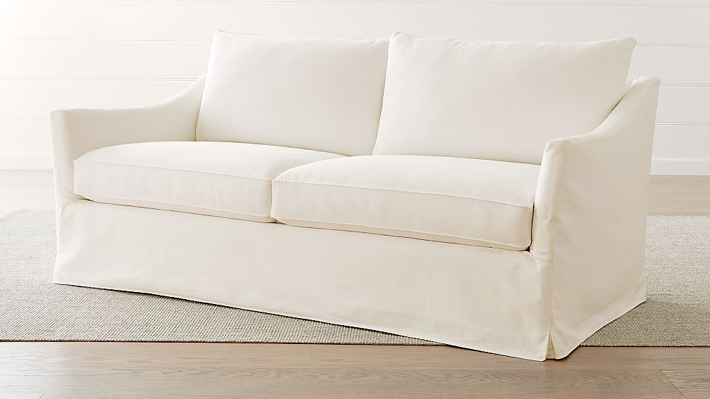 Keely Slipcovered Apartment Sofa - Image 1 of 5