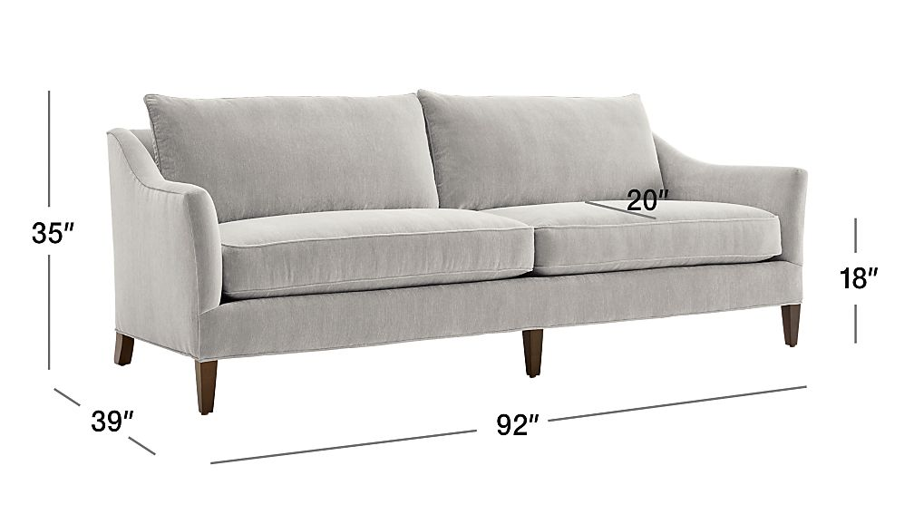 Image with dimension for Keely Sofa