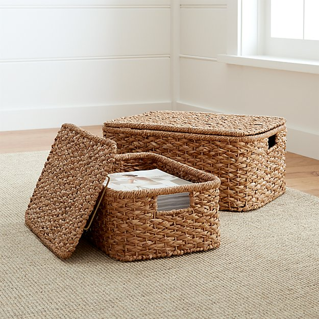 Kelby Rectangular Lidded Baskets