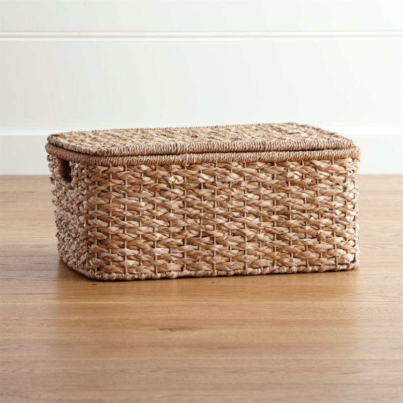 Kelby Large Rectangular Lidded Basket Crate And Barrel