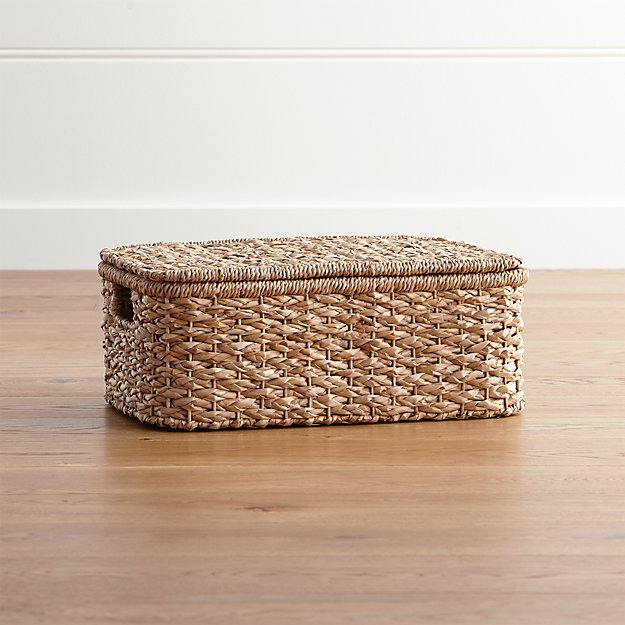 Kelby Small Rectangular Lidded Basket