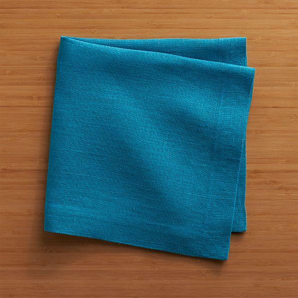 Kelsey Azure Linen Napkin