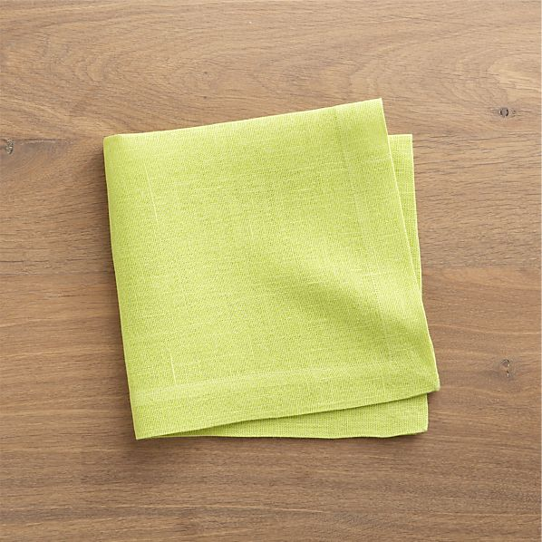Kelsey Apple Green Linen Napkin