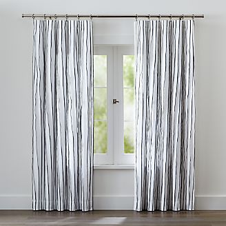 kendal blue striped curtains - Blue And White Window Curtains