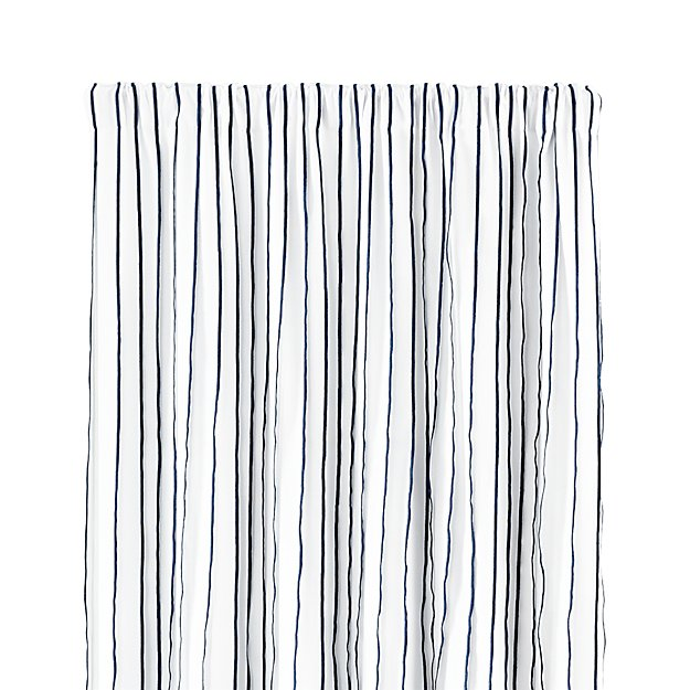 "Kendal 50""x84"" Blue Striped Curtain Panel"