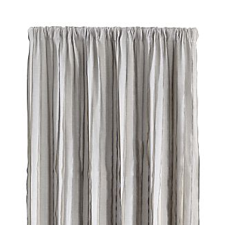 "Kendal 50""x108"" Grey Striped Curtain Panel"