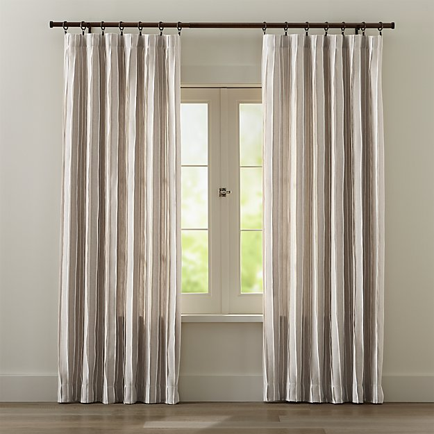 Kendal Natural Curtains | Crate and Barrel