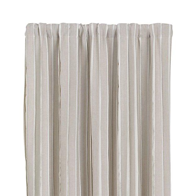 kendal natural 50 x84 curtain panel crate and barrel. Black Bedroom Furniture Sets. Home Design Ideas