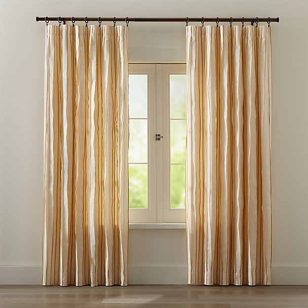 Kendal Yellow Striped Curtains