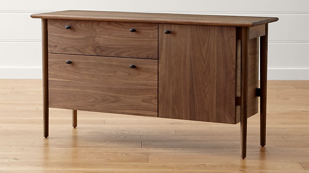 Kendall Walnut Credenza Reviews Crate And Barrel