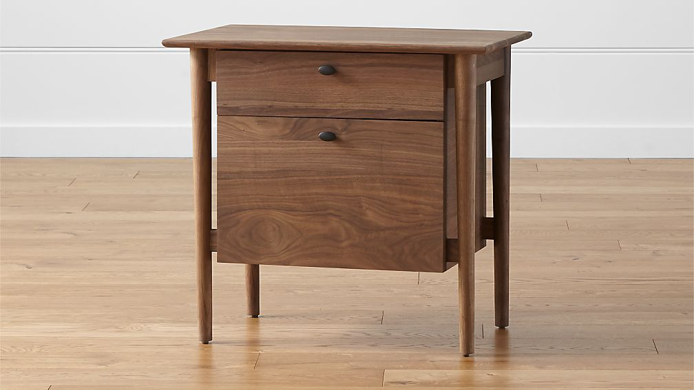 kendall walnut filing cabinet   crate and barrel