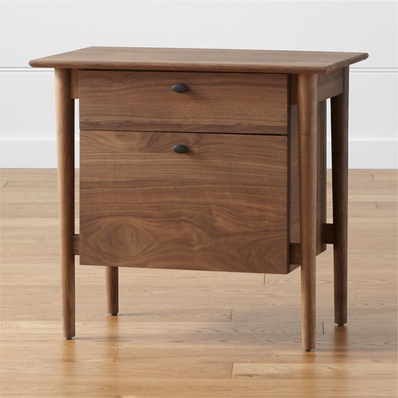 Kendall Walnut Filing Cabinet Reviews Crate And Barrel