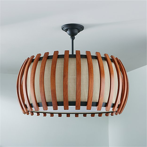 Kennedy wood drum pendant light reviews crate and barrel aloadofball Choice Image