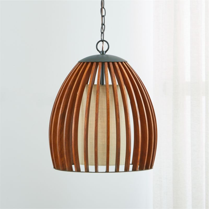 Kennedy Wood Pendant Light Crate And