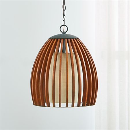 Peachy Kennedy Wood Pendant Light Reviews Crate And Barrel Home Interior And Landscaping Ferensignezvosmurscom