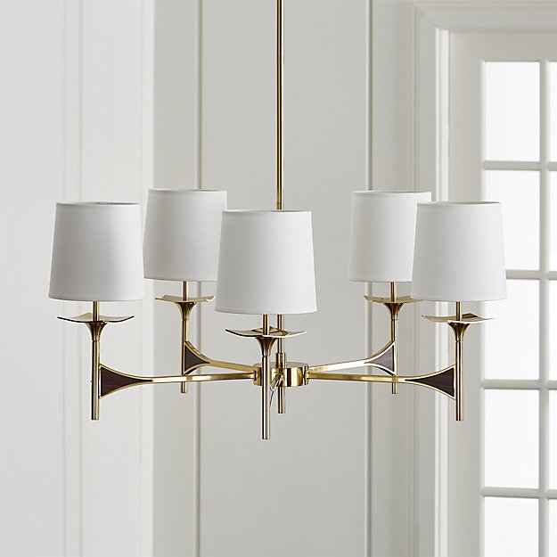 Kent 5-Arm Brass Chandelier